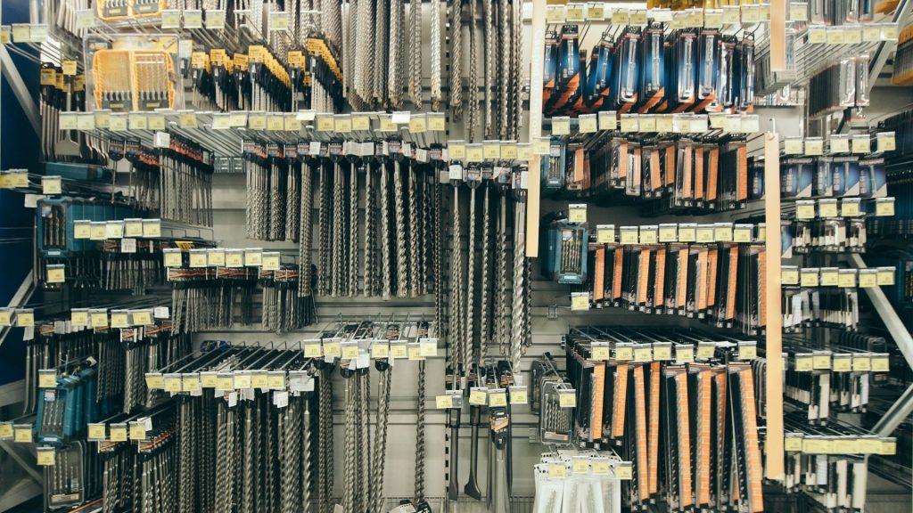 layout de loja de materiais de construção